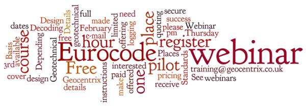 Eurocode webinar wordle