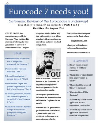 Eurocode 7 needed you