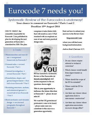 Eurocode 7 needed you